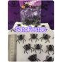 Mini Aranhas De Plástico C/20 Halloween Festa