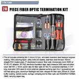 Kit Terminacion 28 Piezas P/ Fibra Optica Goldtool Ttk-1200