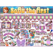Kit Imprimible Princesita Sofia, 3 Invitaciones Powpt