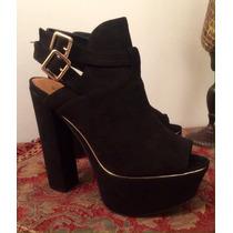 Sandalias Plataformas Estilo Botines Mujer Moda Calzado Dama