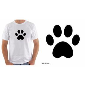 Camiseta Camisa Masculina Estampa Patinha De Cachorro Cores