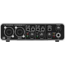 Interface De Áudio Usb Placa Behringer Umc202 Hd Pré Midas