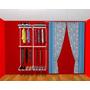 Closet Aramado Modulado 120 Cm X 200 Cm X 0,40 Cm Branco