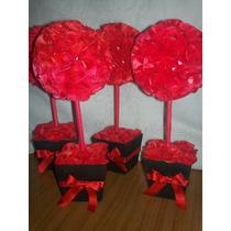 Topiarios De Flores De Pael De Seda ,15 Años ,boda,comunion