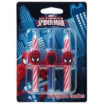 6 Pc Spiderman Velas De Cumpleaños Pastel Partido