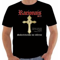 Camisa Camiseta Baby Look Regata Racionais Sobrevivendo