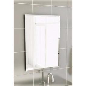 Espelho C/ Bisotê 55cm X 45cm Prateleira 8mm 12x45