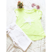 Conjunto 2 Pçs Short Puc + Camiseta Mullet Planet Girl Tam 8