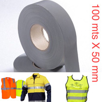 Fita Tecido Refletiva P/ Coletes E Uniformes 100mts X 50 Mm