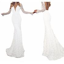 Vestido Longo Festa Madrinha Noiva Casamento Renda Vrl 158