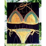 Bikini Conjunto Tejida Crochet Malla Traje De Baño Colaless