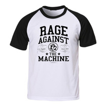 Camiseta Rage Against The Machine - Raglan - Rock Hardcore