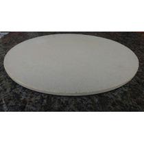 Placa Pedra Refratária Para Pizza Na Churrasqueira - 37 Cm