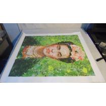 Pintura Impresion Digital En Lona Fryda Y La Selva 50 X 60
