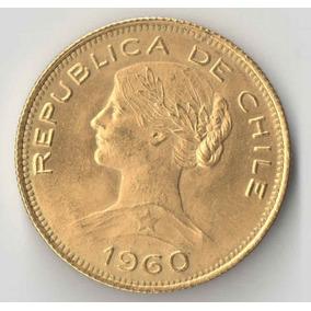 Chile 100 Pesos Ou 10 Condores Ouro 20,339 Gramas 1960 Linda