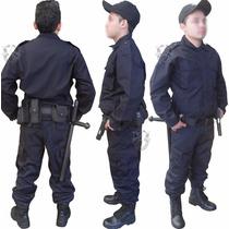 Uniforme Policíaco,norma Subsemun,azul,negro,para Municipios