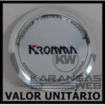 Emblema Alumínio P/ Calota Tampa Centro Roda Kromma Cromada