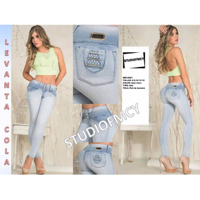 Jeans Pantalones Control De Abdomen Lyl Levantacola Damas