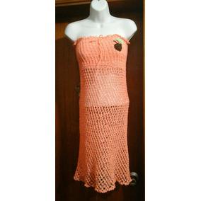 Salida De Playa Doble Uso (vestido/falda), Tejido A Crochet