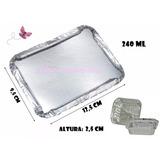 Marmita Marmitinha Aluminio 220ml 250g C/100un C/tampa