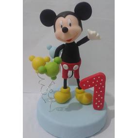 Mickey Mouse,adorno Para Torta En Porcelana Fria Personaliza