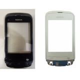 Frontal Touch Screen Nokia C2 06 Dourado Original Com Aro