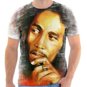 Camiseta Camisa Personalizada Bob Marley Reggae 5
