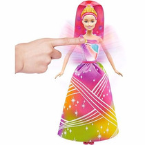 Boneca Barbie Fantasia Princesa Luzes Arco-íris - Mattel