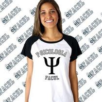 Camiseta Curso De Psicologia Perzonalizada Frete Fixo: 15$