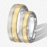 Par Anillos Aros Matrimonio Bodas Plata 925 Y Oro 10k
