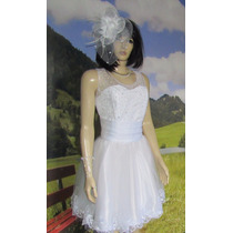 Vestido De Noiva Curto Casamento Civil Festas Fim De Ano