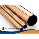 Tubo Redondo De Aluminio Bronce 1 1/2 (pulgadas)