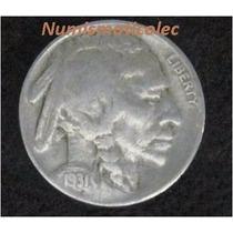 Moneda 5 Centavos Nickel Indio Bufalo 1931s Muy Dificil