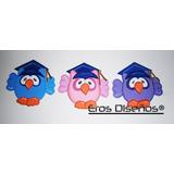 Apliques Recuerdos Distintivos Graduación Fiesta Foami Buhos
