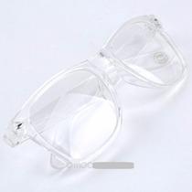 Armação Transparente Óculos Retrô Com Lentes
