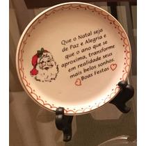 Prato Decorativo, Natal, Porcelana, Pintado A Mão +brinde
