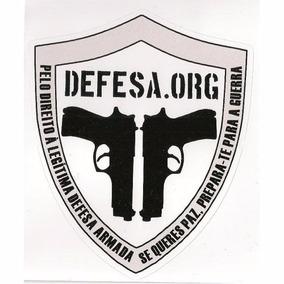 5 Adesivos Defesa.org - Frete Grátis