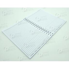 30 Miolos De Caderno Pequeno Pautado Com Furo Quadrado Refil