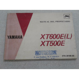 Manual Do Proprietario Moto Yamaha Xt 600 E Ano 1993