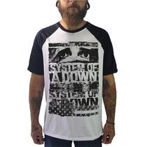 Raglan System Of A Down Camisetas Blusa Moletom Bandas Rock