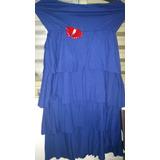 Vestido De Malha Tomara-que-caia Azul
