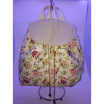 Bolsa Mochila Costura Criativa/patchwork - Infantil - Coruja