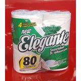 Papel Higiénico Elegante Tissue X 80 Mts (paq X 4 Rollos)