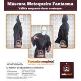 Fantasia Completa - Máscara Motoqueiro Fantasma + Túnica!