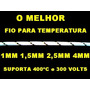 Fio Temperatura Amianto 1mm Suporta Até 400ºc 3 Metros