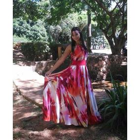 Vestido Longo Feminino Festa Casamento Madrinha Casual Renda