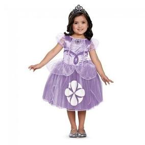 Disfraz Niña Princesa Sofia Original Corona Disney 4--6