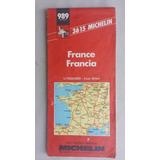 Michelin Mapa France Anos 90 Guia Rodoviário Antigo