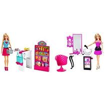 Juguete Barbie Malibu Ave Tienda Con Muñeca Set De Juego Su
