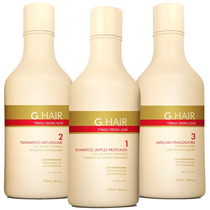 Inoar Ghair Escova Alemã G Hair Inteligente 3x250ml # Alisa